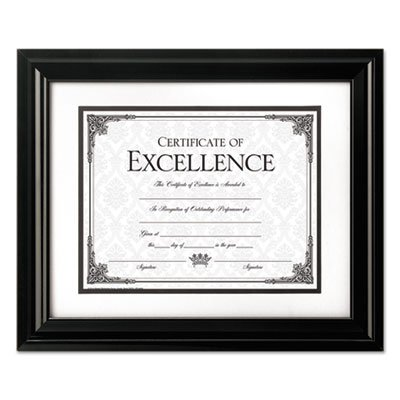 High Gloss Frame, 8 1/2 x 11; 11 x 14, Black Frame, Sold as 1 Each
