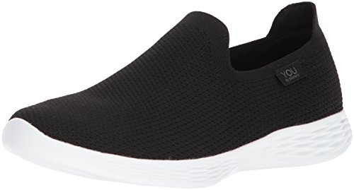 Mujer Zapatillas Black para sin Negro You Skechers Zen Cordones White Define Bkw wqx06ZF