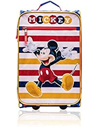 Soft-Sided Wheeled Luggage for Kids - 18 Inch [Mickey]