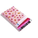Pink Roses Designer Poly Mailers Shipping Envelopes Boutique Custom Bags (100 6x9)