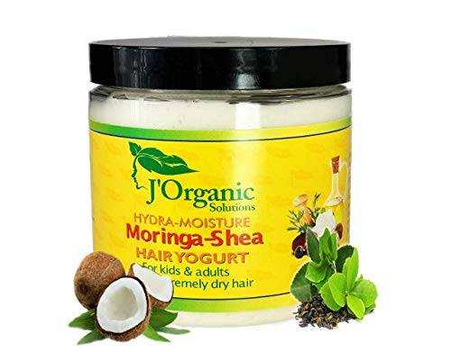 J'Organic Solutions (HAND MADE) Hydra-moisture day Moringa-Shea hair yogurt For kids and adults with extremely dry hair
