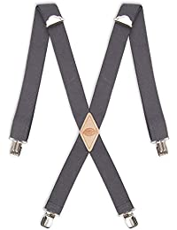 Men's 1-1/2 Solid Straight Clip Suspender