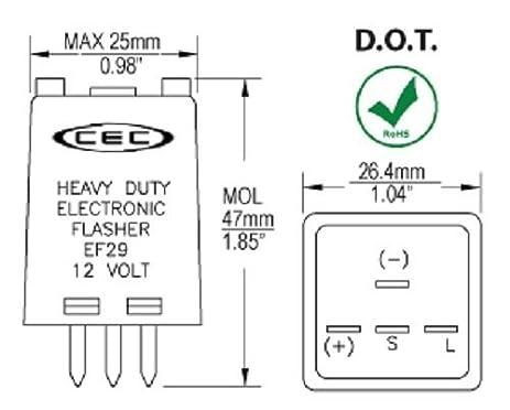 Amazoncom EF29 Electronic Turn Signal Flasher Relay 4 Prong