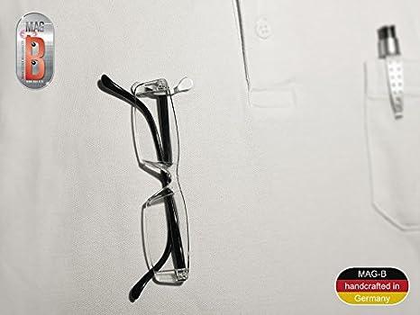 MAG-B soporte magnético para gafas (acero inoxidable pulido): Amazon.es: Hogar