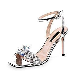 High Heels Crystal Sandals With Rhinestone
