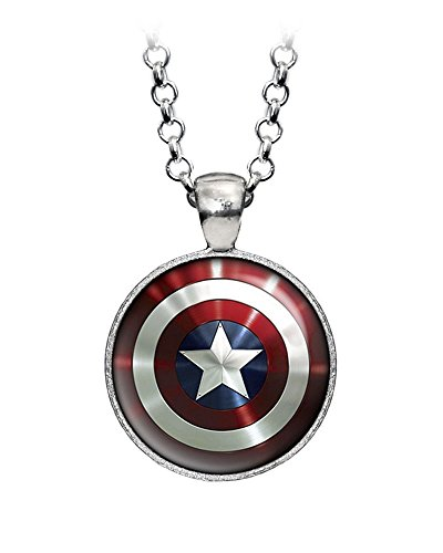 captain america earrings captain america necklace the jewelry shield 4694