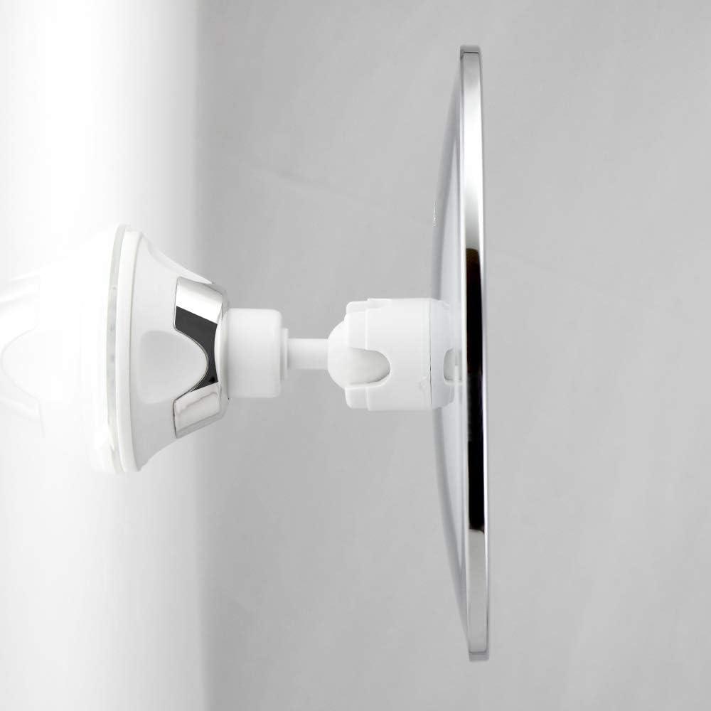 MENGCORE 173 mm 360 Grad drehbarer runder Nebel-Rasierspiegel Badezimmer Dusche Spiegel mit Verriegelungs-Saugnapf Anti-Beschlag-Spiegel