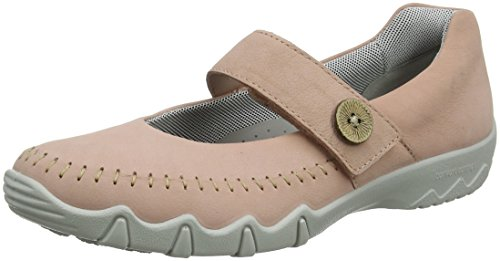 Hotter Women's Spin Mary Janes Pink (Powder Pink) cyQeH7