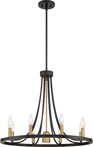 Quoizel BLD5008DC Ballard Center Downlight Chandelier, 9-Light, 530 Watts, Dark Cherry (22