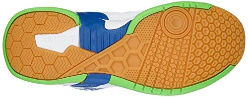 KempaAttack Three - Zapatillas de balonmano para mujer Multicolor (weiß/kempablau/fluo grün)