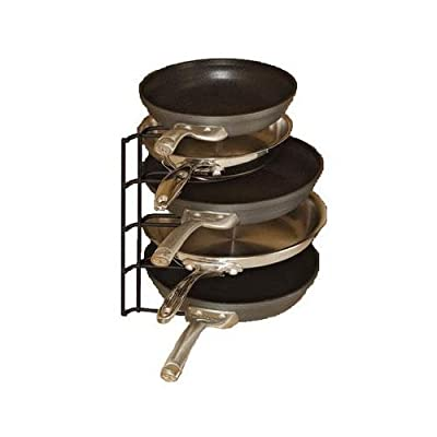 Rubbermaid 1H4209BLA Kitchen Pan/Lid Organizer, Black Wire, 9.38 x 10 x 11-3/4-In.