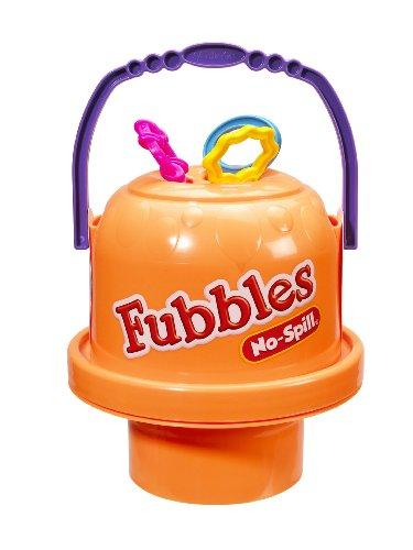 Little Kids Fubbles No Spill Big Bubble Bucket, Orange by Little Kids