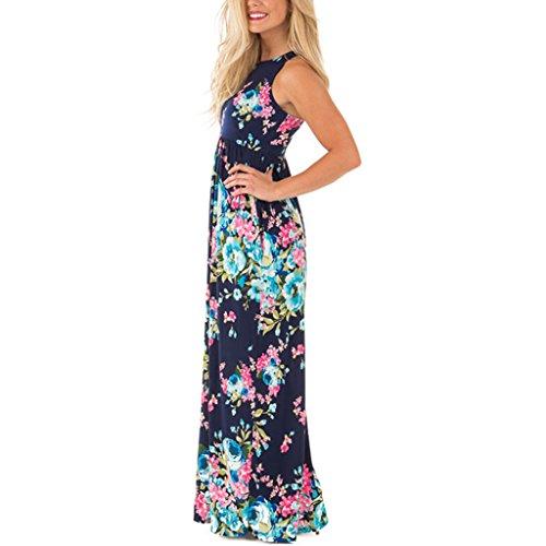 para Verano Beach Dress Azul Fiestas Boho Mujeres Cocktail para de Maxi Bueno MagiDeal Vestido Regalo Noche qwAgEPAzx