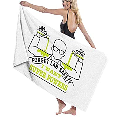 LXXYZ Lab Safety Super Powers Prints Bath Towel Wrap Womens Spa Shower and Wrap Towels Swimming Bathrobe Cover Up for Ladies