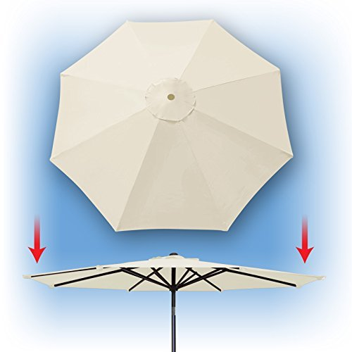 Umbrella Cover Canopy 9ft 8 Rib Patio Replacement Top Outdoor-ECRU by BenefitUSA