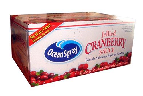 Ocean Spray Jellied Cranberry Sauce, 6 Cans 14 Ounces Each 84 Ounce Total