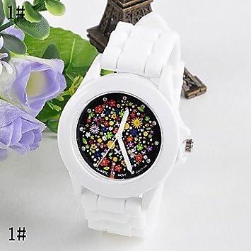 Flor femenina superficie jalea silicona reloj kreisförmig chinos Movimiento Relojes (Colores Surtidos) 7 #: Amazon.es: Deportes y aire libre