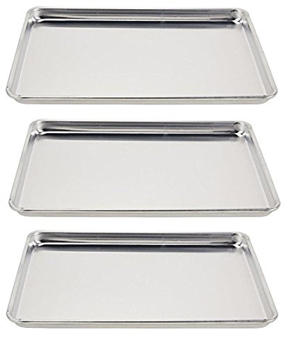 Vollrath 5303 Wear-Ever Half-Size Sheet Pans, Set of 3 (18-Inch x 13-Inch, Aluminum)
