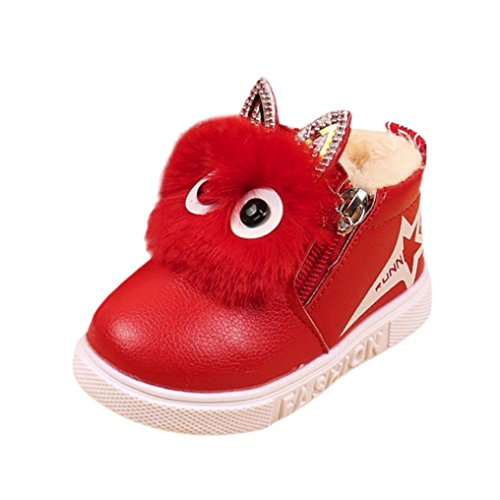 Colorful TM Fashion Children Girls Sneaker Boots Kids Warm Baby Casual Shoes (UK:6.5, Red)