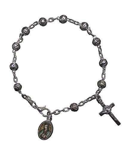 ea7da70bc6e San Rafael Arcangel La Virgen de Guadalupe Bracelet Catholic Favor with  Medal and Cross with Jesus