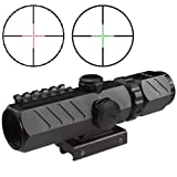AIM Tactical 2-6x32 Compact Dual Color (Red,Green) illuminated Mil-Dot Range Estimating Reticle AR SWAT Rifle Scope With Integral Mount Fits AR15 AR-15 Beretta CX4 Storm S&W M&P 15-22 Hk416 Hk-416 Ruger SR22 SR-22 SR556 SR-556 AR556 AR-556 SIG556 SIG-556 SIG-522 SIG522 FN SCAR ACR Mossberg MMR 715T KEL-TEC SU16 SU-16 SU22 SU-22 Rifless Hi-Point Carbine