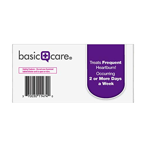 Basic Care Omeprazole Delayed Release Orally Disintegrating Tablets, 20 mg, Acid Reducer, Strawberry Flavor, 42 Count