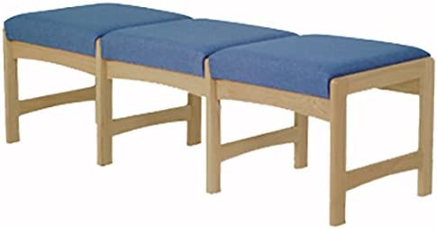 Wooden Mallet DW5-3 3-Seat Bench, Medium Oak Watercolor Rose
