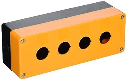 eDealMax plástico 4 agujeros del interruptor del empuje del botón titular caja de la caja de