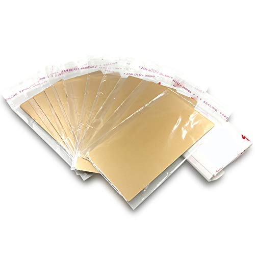 - ebamaz Anodized Aluminium Laser Engraved Mount Metal Plate Etching Sheets 100X50mm Round Corner with Adhesive(Golden,Blank,10PCS) ...