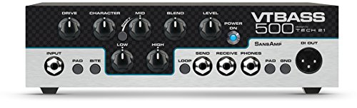 - Tech 21 VT Bass 500-500-watt Character Series Lightweight Bass Head