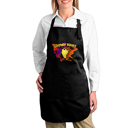 Bugs Bunny And Daffy Duck Costumes (Easy Care Taz Looney Tunes Kitchen Apron Bib Garden Black)
