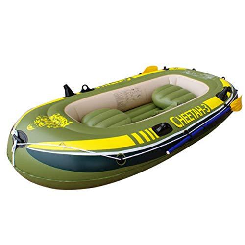 HYYQG Inflatable Kayak,3+1 Person Sea Fishing Kayak Accessories Paddle Rod Air Pump Kit Bottom Plate Bag