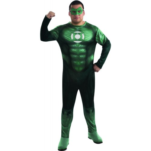 Green Lantern Full Figure Hal Jordan Costume, Green, One Size -