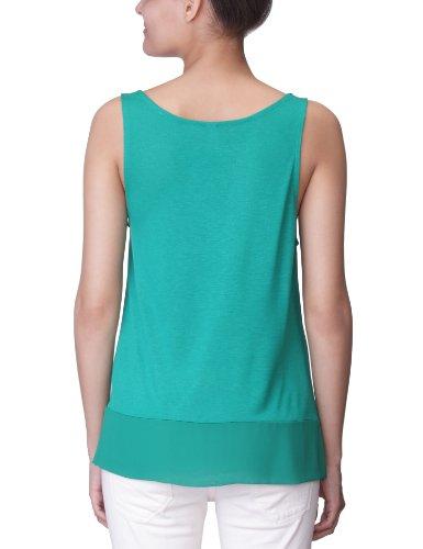 Vero Moda Moda - Camiseta con volantes de sin mangas con cuello mao para mujer Ultramarine Green
