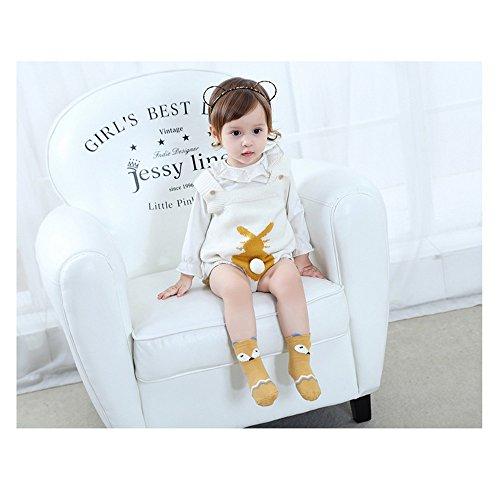 Baby Toddler Boys Girls Socks, Kids Anti Slip Cartoon Animal 6 Pairs Cotton Stockings (0-2 Years) by NUZIKU (Image #3)