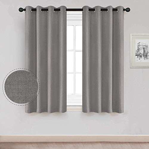 (North Hills 63 Kids Curtains for Bedroom, Premium Soft Curtain with Cashmere Hand-Feel Kids Window Treatment Room Darkening Drapes, (Grey 52 Inch x 63 Inch 1 Panel))