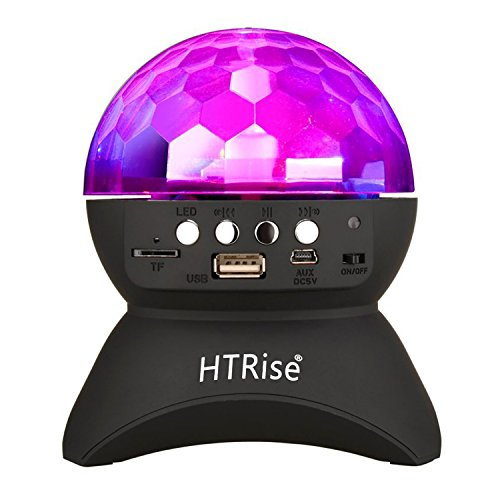 Disco Ball Home Party Light Speaker, Kid Christmas Gift DJ Stage Lighting with Wireless Bluetooth Speaker (3rd Black)