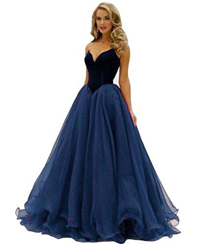Velvet Strapless Gown - 5