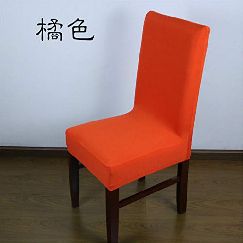 (NUAN HUOBAO Universal Polyester Stretch Chair Cover Spandex Elastic Jacquard Chair Covers for Banquet Home Wedding Decoration Home Textiles Orange as Description)
