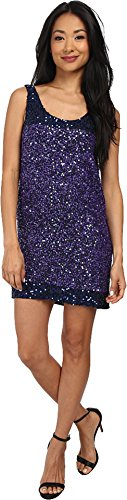 French Connection Women's Rainbow Sequins Dress, Blue, 2