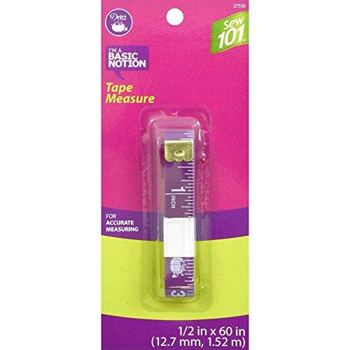 Dritz Sew 101 27510 Tape Measure, 1/2 x 60-Inch