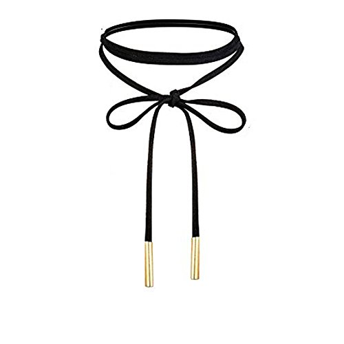 UdobuyPunk Leather Necklace Stretch Necklaces