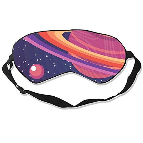 Rings of Saturn Sleep Eye Mask for Sleeping Contoured Eyemask Silk Best Night Blinder Eyeshade for Men Women Kids ()