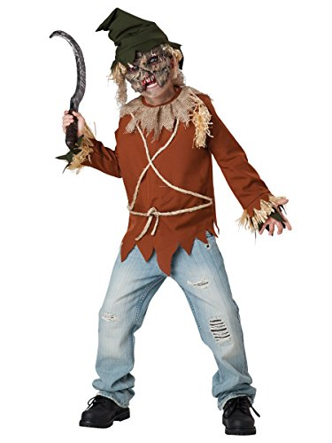 Scary Scarecrow Costumes (InCharacter Costumes Psycho Scarecrow Costume, Size 8/Medium)