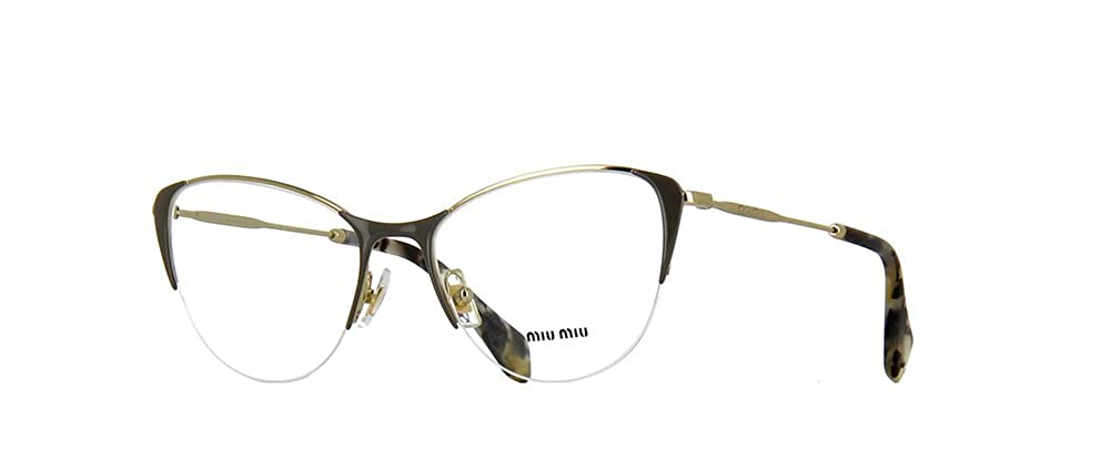 MIU MIU Eyeglasses MU 50OV UBQ1O1 Pale Gold//Pearl Grey 53MM