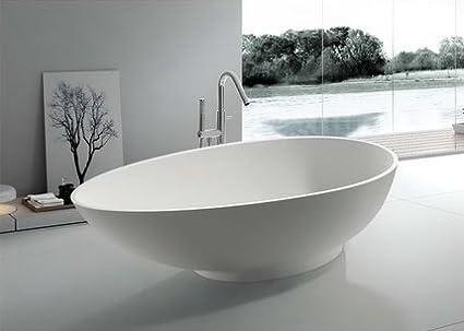 modern bathtub soaking bathtub freestanding bathtub solid rh amazon com modern bathtubs for sale modern bathtub ideas