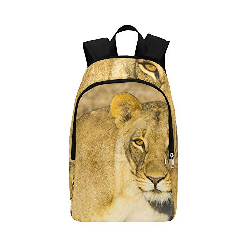 (YUMOING Wildlife in Nxai Pan National Park Casual Daypack Travel Bag College School Backpack Mens Women)