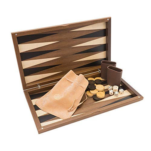 (Regencychess The Dal Negro Walnut Deluxe Backgammon Set)