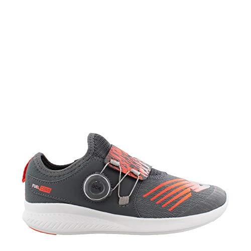 New Balance Boys' FuelCore Reveal Running Shoe Gunmetal/Alpha Orange 12 M US Little Kid