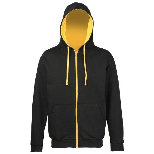 Awdis Mens Varsity Hooded Sweatshirt / Hoodie / Zoodie